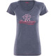 Bergans Tee Ladies Navy Melange/Pale Red/Pale Coral
